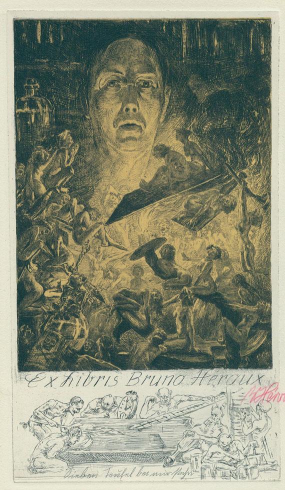 Exlibris - Héroux, B., 101 Exlibris. 1917.