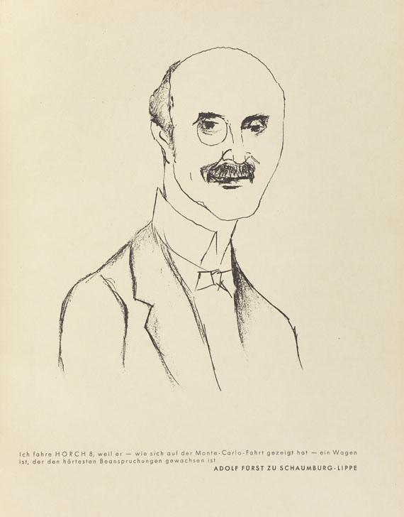 Rudolf Grossmann - 12 Köpfe Prominenter Horchbesitzer. 1929. Widm.expl. - Weitere Abbildung