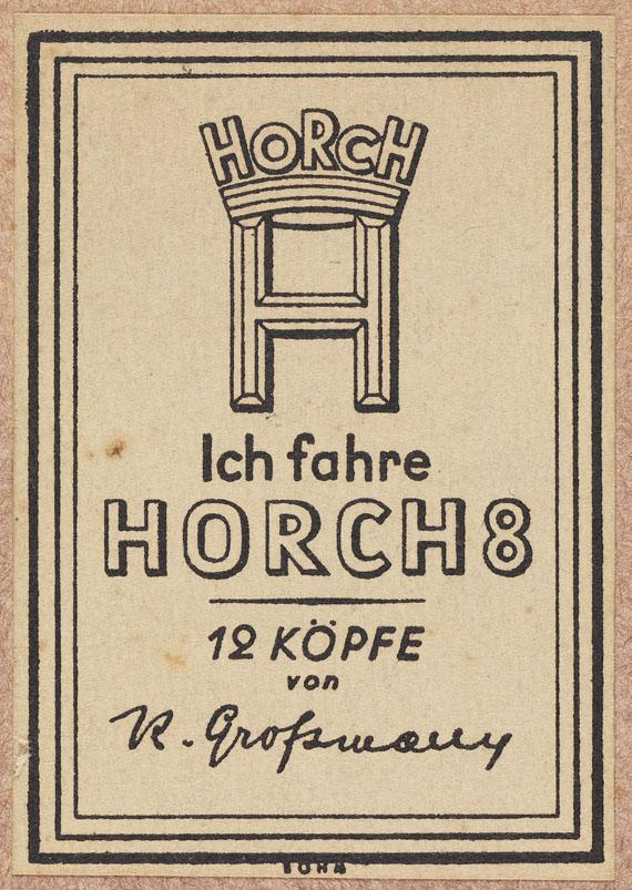 Rudolf Grossmann - 12 Köpfe Prominenter Horchbesitzer. 1929. Widm.expl.