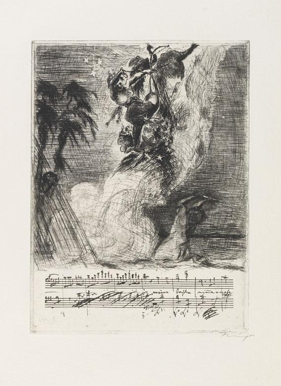 Max Slevogt - Randzeichnungen zu Mozarts Zauberflöte. - Weitere Abbildung