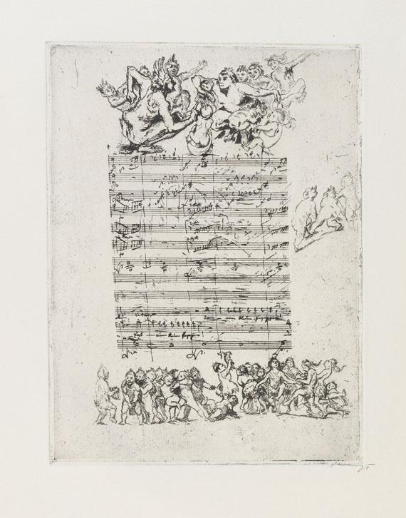 Max Slevogt - Randzeichnungen zu Mozarts Zauberflöte.