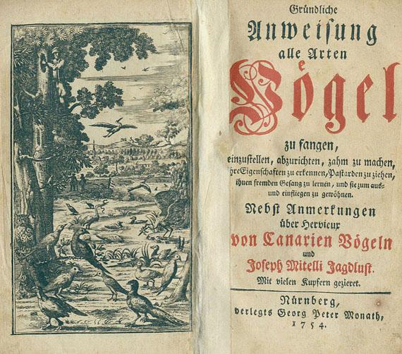 Ferdinand Adam von Pernau - Anweisung alle Arten Vögel. 1754.