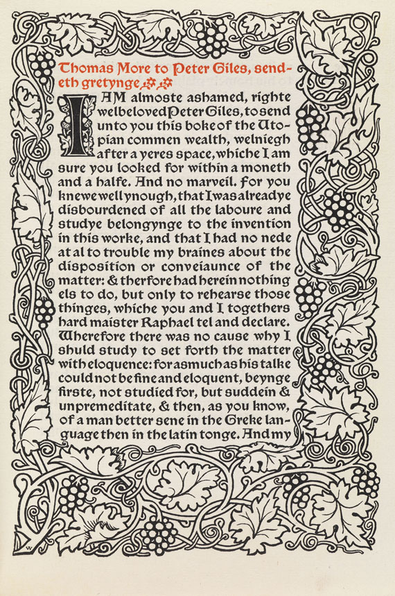 William Morris - More, T., Utopia. 1893.