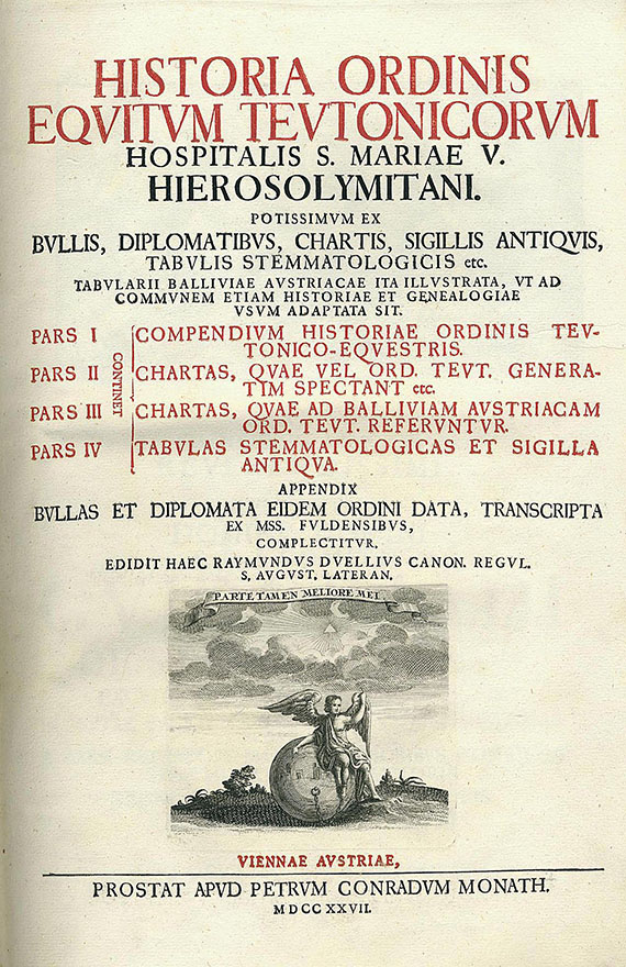 Raimund Duellius - Historia ordinis equitum teutonicorum. 1727.