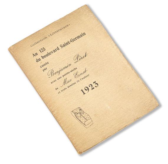 Max Ernst - Peret, B., Au 125 du boulevard Saint-Germain. 1923. - Weitere Abbildung