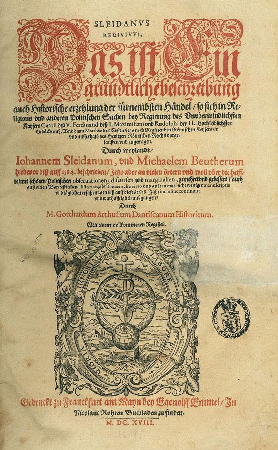Johannes Sleidanus - Das ist ein grundliche Beschreibung. 1618
