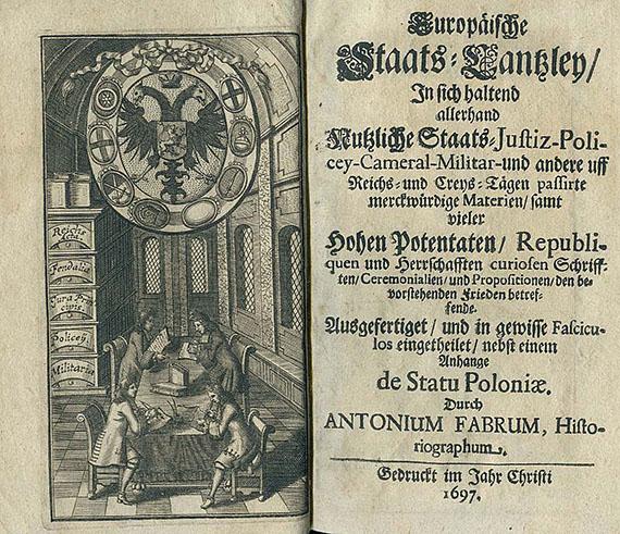 Anton Faber - Europäischer Staats-Cantzley. 1697