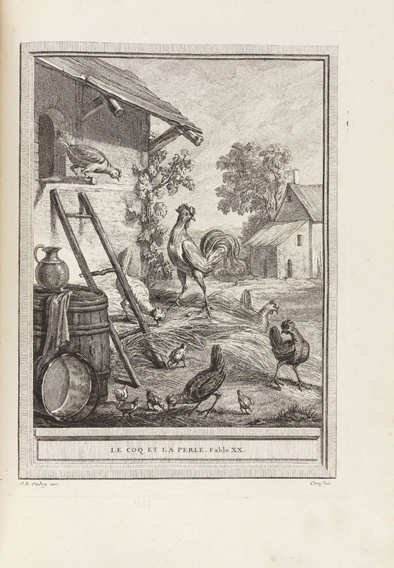 Jean de La Fontaine - Fables Choisies. 4 Bde. 1740