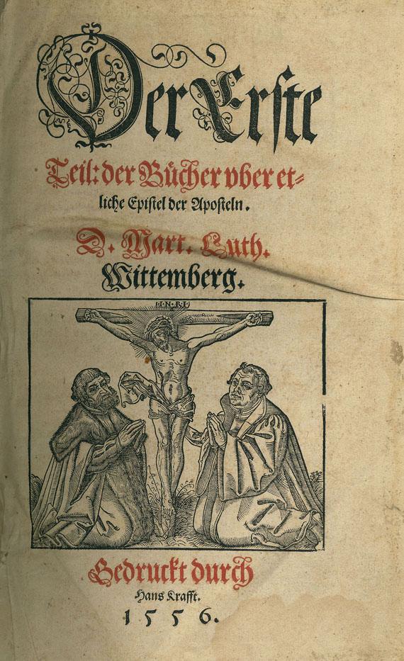 Martin Luther - Bücher uber etliche Epistel. 1556.