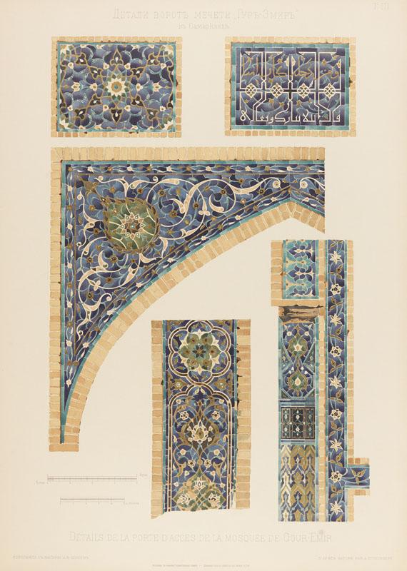 - Les mosqueés de Samarcande. 1905 - Weitere Abbildung