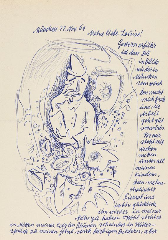 Willi Geiger - Sammlung von Briefen und Orig.-Zeichnungen. 2 Mappen - Weitere Abbildung