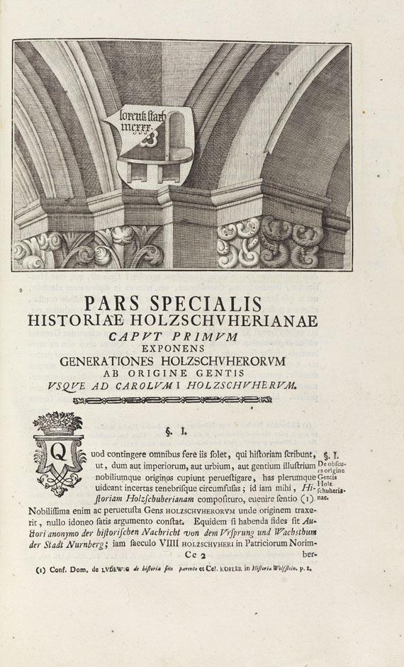 Johann Christoph Gatterer - Historia genealogica dominorum Holzschuherorum ab Anspach. 1755