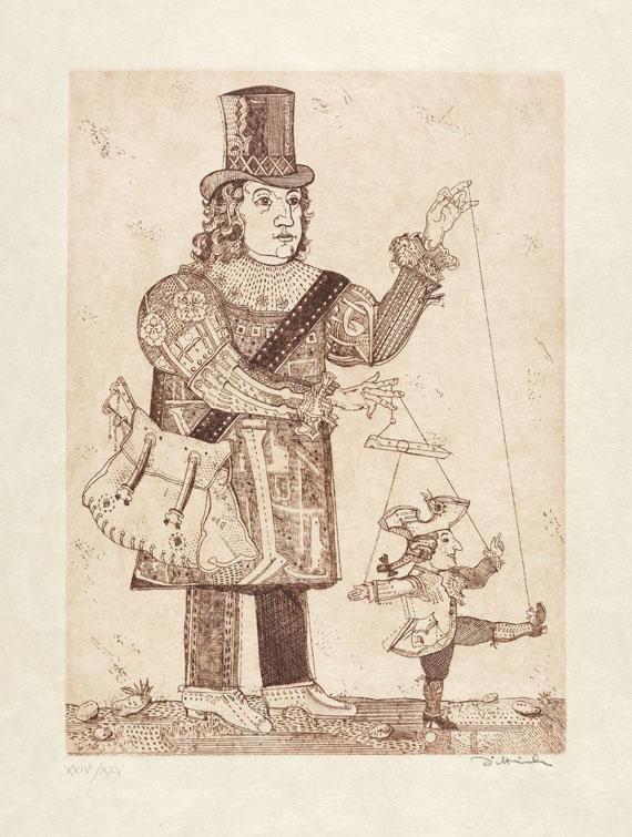 Simon Dittrich - Kleist, Über das Marionettentheater & 6 Radierungen. 1979