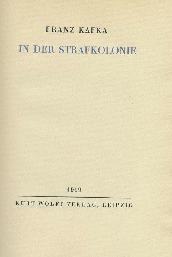 Franz Kafka - In der Strafkolonie. 1919.