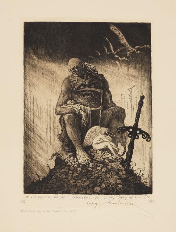 Ludwig Hesshaimer - Der Weltkrieg. Ein Totentanz. 1921 - Weitere Abbildung