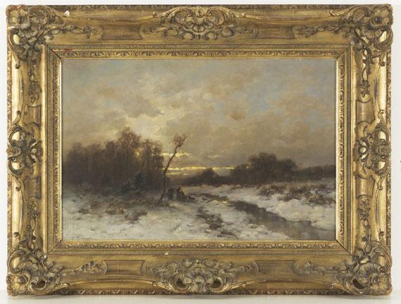 Désiré Thomassin - Winterlandschaft mit Reisigsammlern - Weitere Abbildung