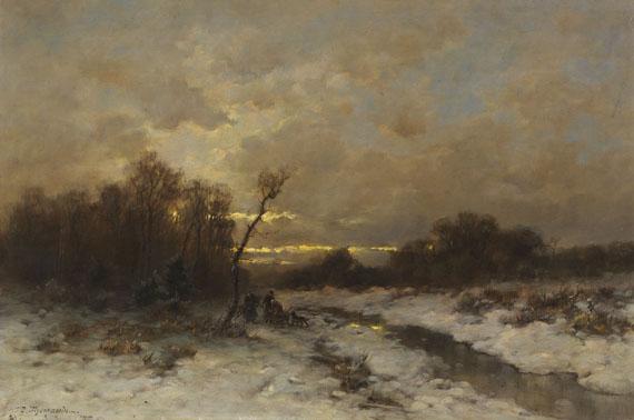 Désiré Thomassin - Winterlandschaft mit Reisigsammlern