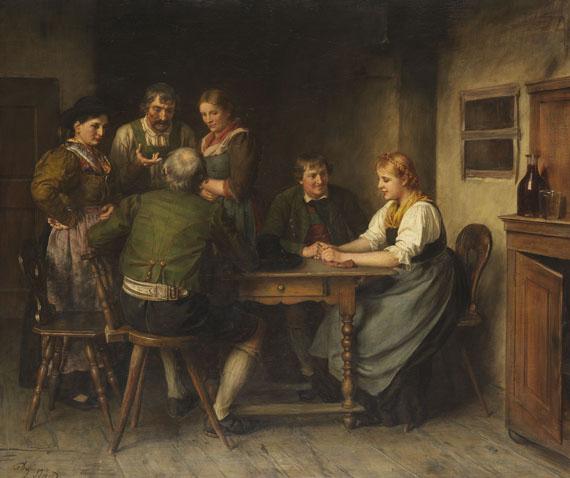 Franz von Defregger - Die Werbung