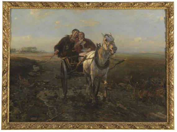 Alfred von Wierusz-Kowalski - Glückliche Kutschfahrt - Weitere Abbildung