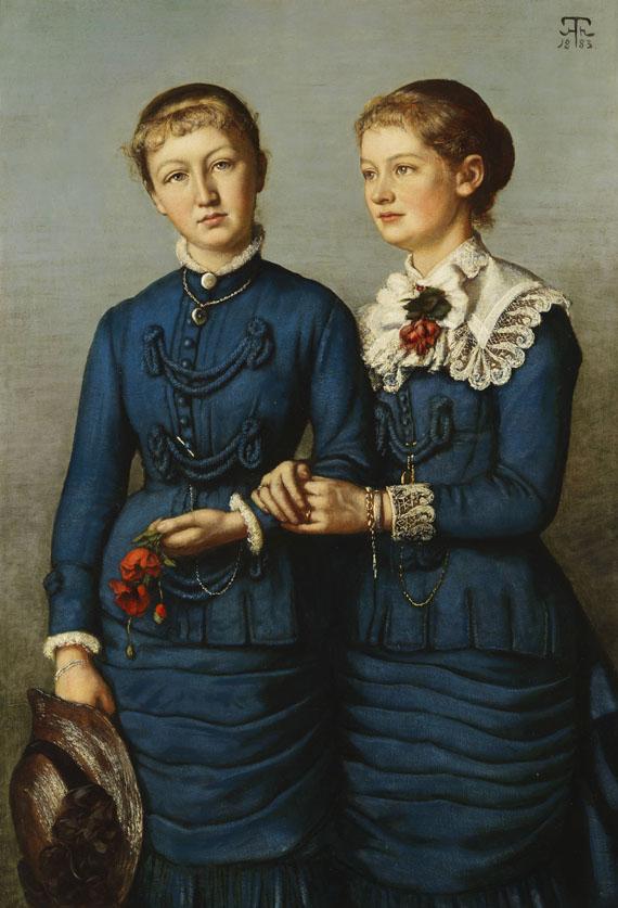 Hans Thoma - Bildnis der beiden Töchter der Familie Haag