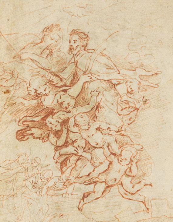 Johann Kaspar Sing - Der heilige Johann Nepomuk wird von Engeln in den Himmel getragen