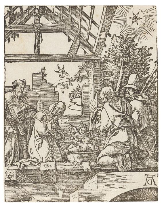 Albrecht Dürer - 4 Bll.: Geburt Christi. Christus vor Herodes. Die Dornenkrönung. Die Kreuztragung (aus der kleinen Holzschnittpassion)