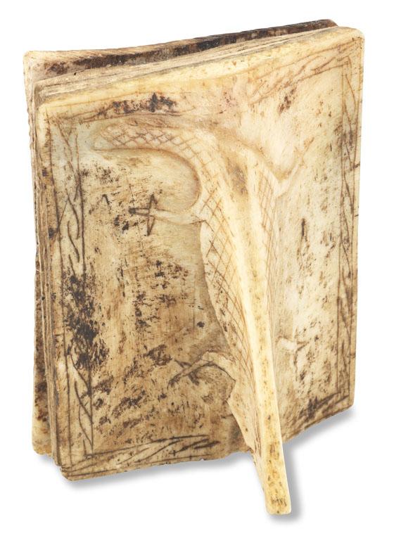Manuskripte - Batak-Manuskript, Buch der Prophezeiungen. In Knocheneinbd. - Weitere Abbildung