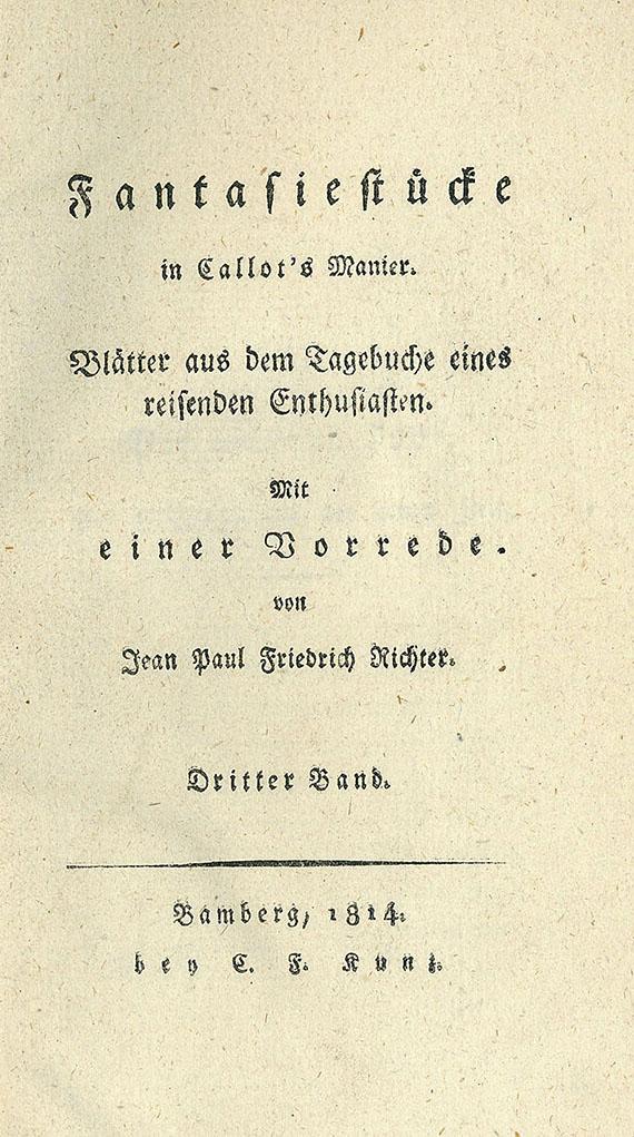 Ernst Theodor Amadeus Hoffmann - Fantasiestücke. 1814-15. 2 Bde.
