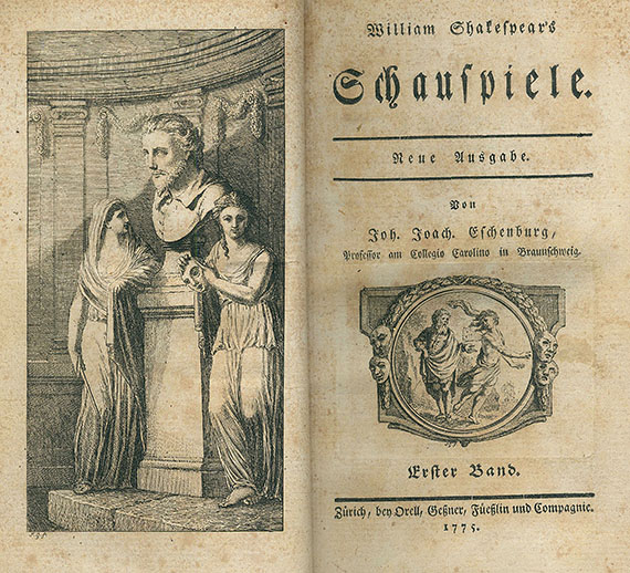 William Shakespeare - Schauspiele. 1775-77. 12 Bde.