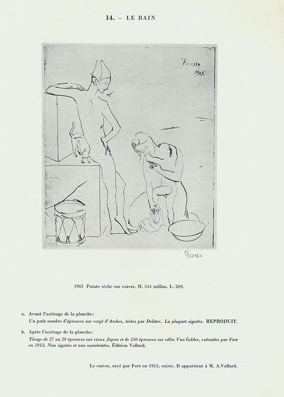 Pablo Picasso - Geiser, B., Monographie. 2 Bde. 1955 -Dabei: Ponge, F., Braque lithographe.