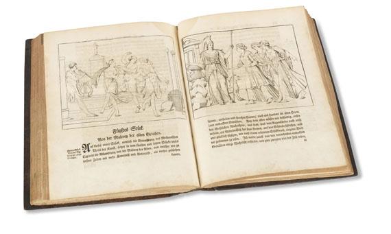 Johann Joachim Winckelmann - Geschichte d. Kunst d. Altertums + Anmerkungen, 2 Bde. Dazu 4 weit. Werke in 2 Bdn. 1764-67.