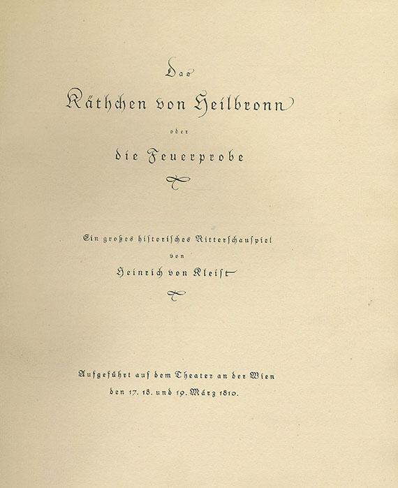 Heinrich von Kleist - Das Käthchen von Heilbronn. 1922.