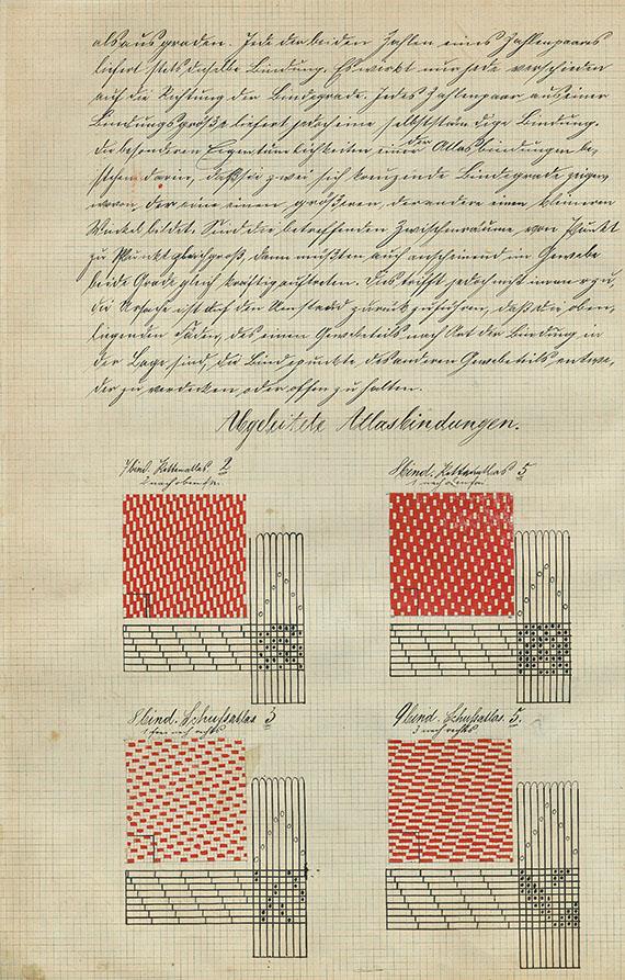 Musterbücher - Musterbuch Weberei. Um 1900.