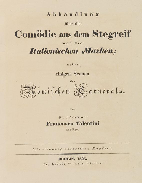 Francesco Valentini - Valentini, F., Trattato su la Commedia dell´Arte. 1826.