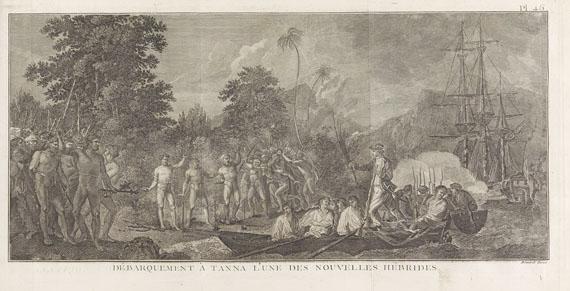 James Cook - Troisième voyage de Cook. 1785. 3 Tafelbde.