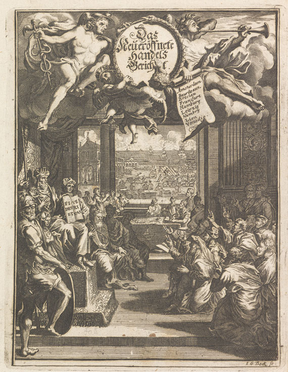 Paul Jacob Marperger - Handels-Bericht oder ... Commercien-Collegium. 1709.