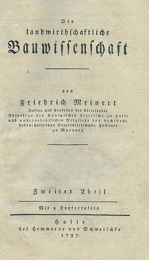 Friedrich Meinert - Bauwissenschaft. 2 Tle. 1796-97