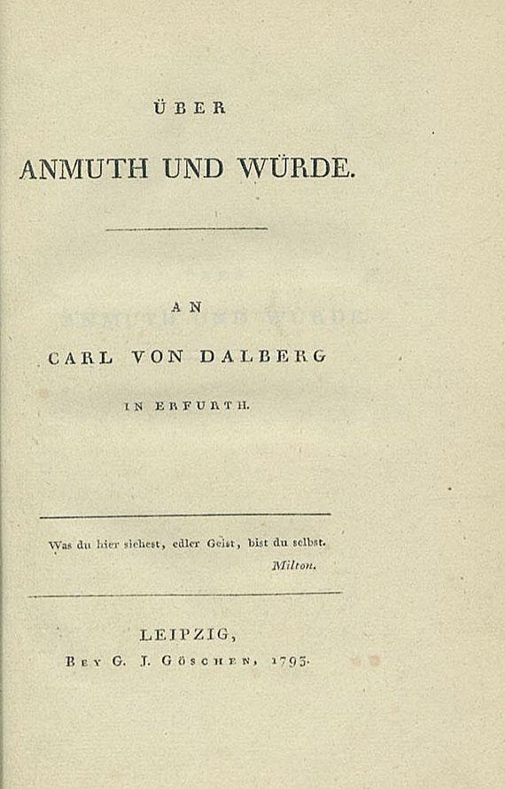 Friedrich von Schiller - Über Anmuth und Würde. 1793.