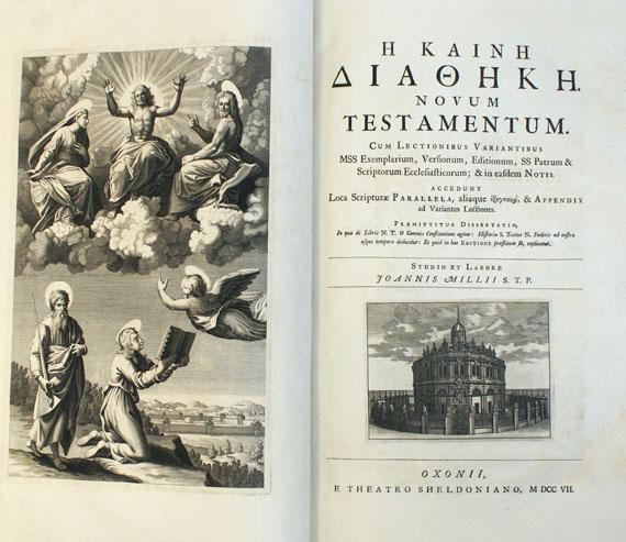 Biblia graeca - Novum testamentum.1707. 2 Bde.