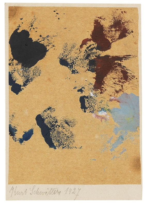 Kurt Schwitters - Ohne Titel (Spritzen Farbe)