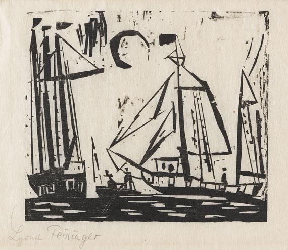 Lyonel Feininger - Segelboote (mit Mond)