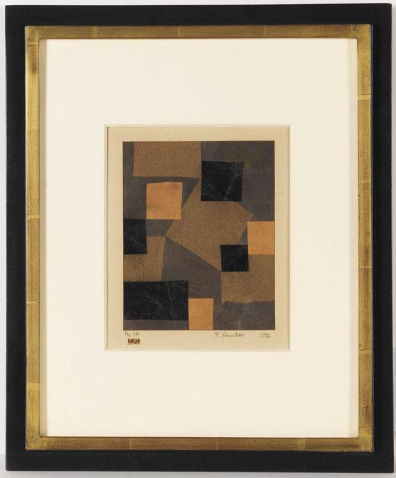Kurt Schwitters - Mz 386 Hopf (Merzzeichnung) - Rahmenbild