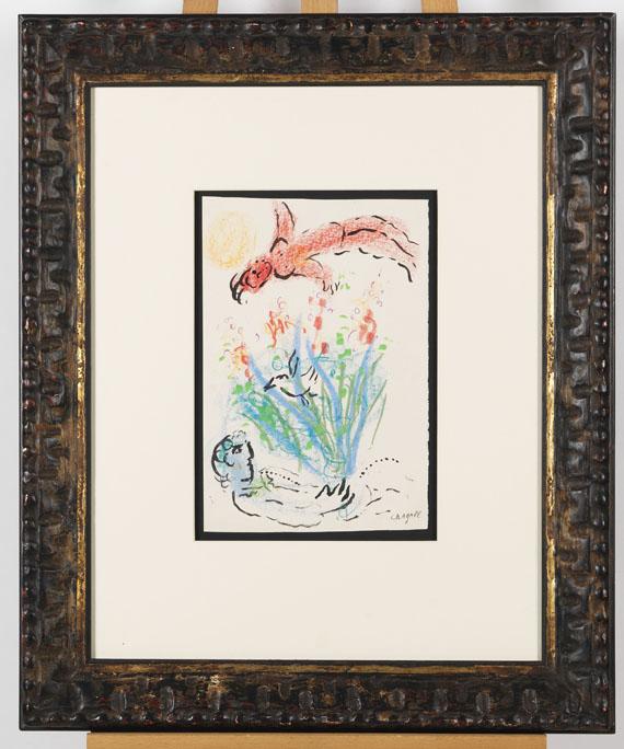 Marc Chagall - Nu rouge au dessus du bouquet - Rahmenbild