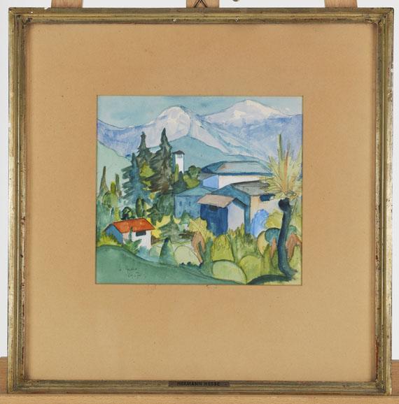 Hermann Hesse - Tessin-Gebirge - Rahmenbild
