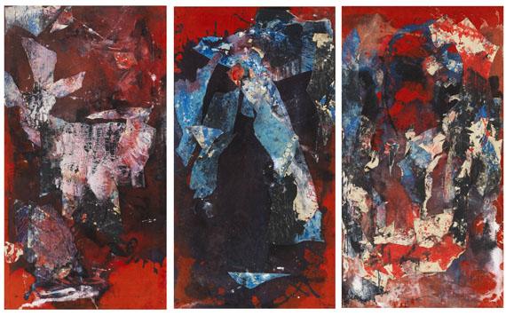 Fred Thieler - Triptychon