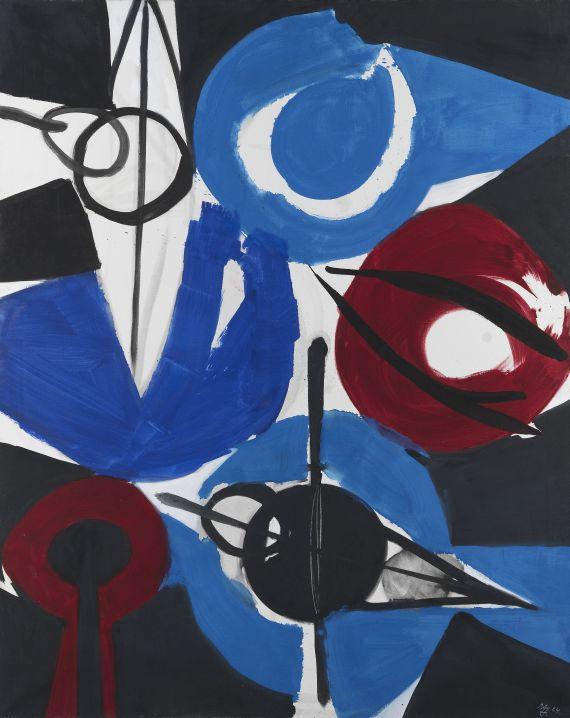 Ernst Wilhelm Nay - Irisch Blau