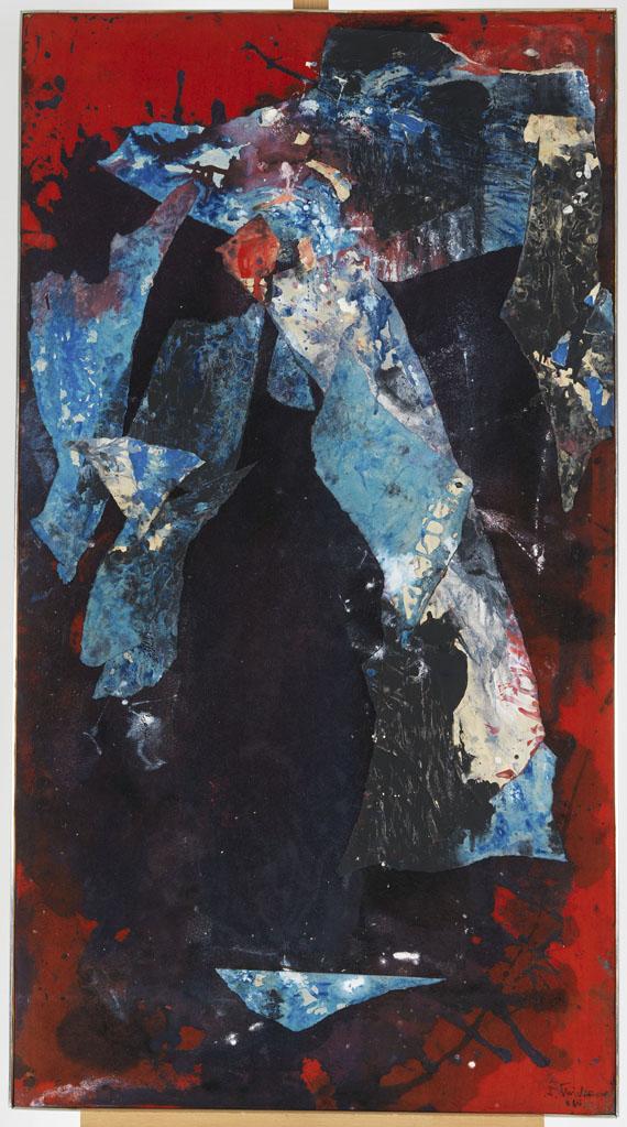 Fred Thieler - Triptychon - Rahmenbild