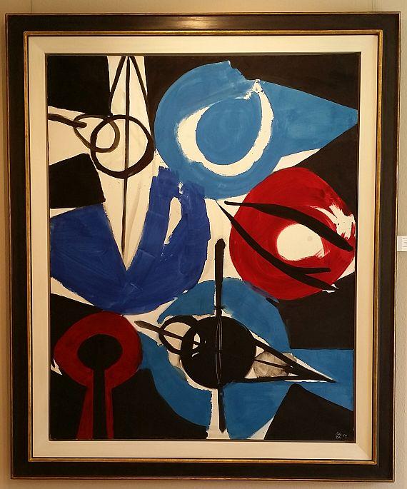 Ernst Wilhelm Nay - Irisch Blau - Frame image