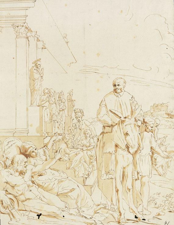 Pietro Testa - Zugeschrieben - Biblische Szene