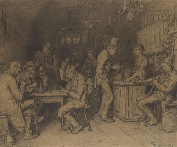 Eduard von Grützner - In der Branntweinschänke